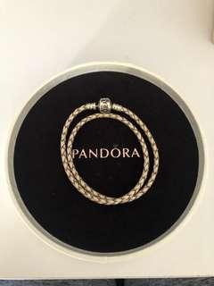 Pandora Leather Bracelet Size 1 - Pearl