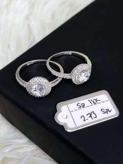 18k SD SOLITAIRE RING