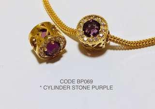 🚚 926 Gold Charm Purple Stone