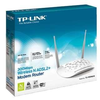 TP-Link Wifi N ADSL2+ Modem Router TD-W8961N