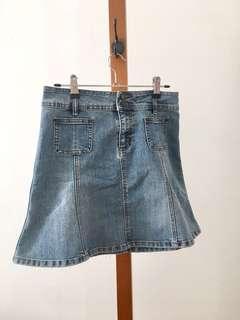 A-line Denim Skirt - Size 8