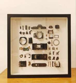 Deconstructed Camera Frame Artpiece