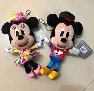 迪士尼 正品 米奇老鼠 美妮 情侶 公仔 鎖匙扣 Disney Mickey Minnie Couple Keychain 紀念日 週年 聖誕禮物 交換禮物