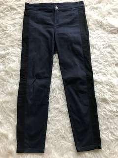 Preloved H&M super slim slacks with side striped