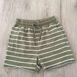 Cotton On Green Stripes Shorts