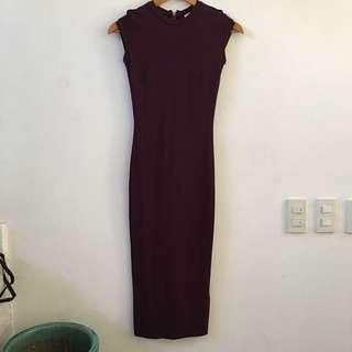 H&M Burgundy Casual Dress