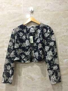 BLAZER THE EXECUTIVE PROFESSIONAL LOOK FLOWER BROCADE