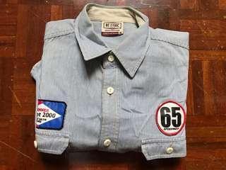 Vintage worker shirt 工裝條紋襯衫