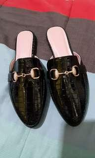 Black mules shoes