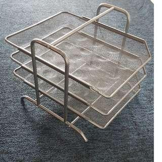 Metal file rack / file holder
