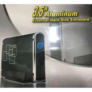 """Sun Bright 3.5"""" Aluminum External Hard Disk Enclosure"""