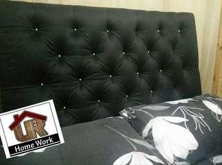 Diamond Tufted Headboard Classic Black