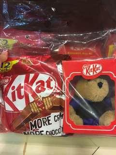 新加坡代購 kit Kat chocolate with bear