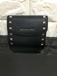 Michael Kors 黑色鉚丁3摺銀包