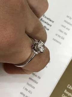 18k鉑金<GIA>證書鑽石戒指(主石1.08ct)
