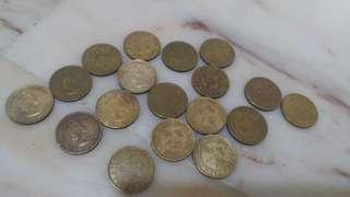 Old hong kong 10 cents Elizabeth coins