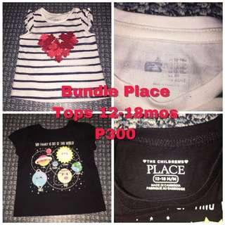 Brand New Baby Gap/Place Tops 12-18mos