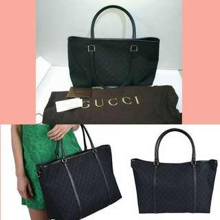 New Authentic GUCCI leather Canvas Tote bag - give a gucci gift