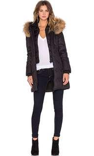 Soia Kyo Salma Coat Xs Black Real Fur