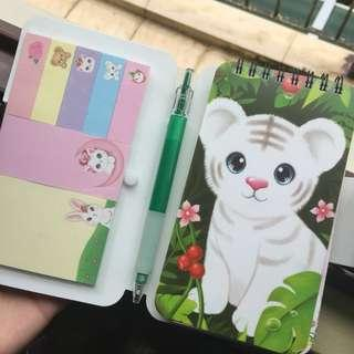 magnetic notebook pad with post its