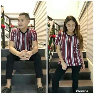Vertical Striped Printed Shirt(M/L)