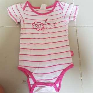Baby Patch Onesie 6-12m pink stripes flower kids onesies