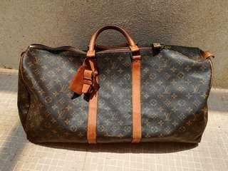 Louis Vuitton Monogram Keepall 55 Duffle Travel Bag
