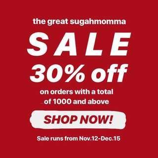 THE GREAT SUGAHMOMMA SALE
