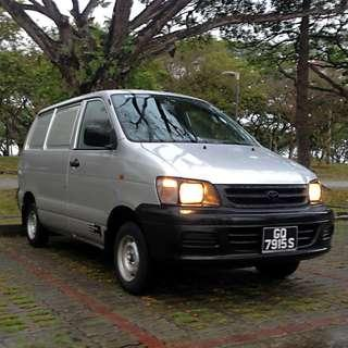 Toyota Liteace van for monthly rent, P-plate welcome