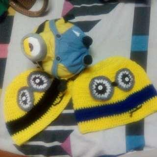 2 New Minion Bonnets From America