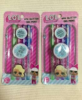 LOL SURPRISE! original Glitter Gel Pen isi 4pcs