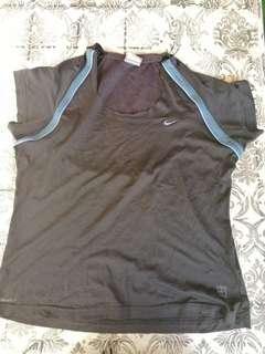 Nike Black and Blue blouse Dri fit