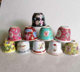10 pcs Assorted small tea cup