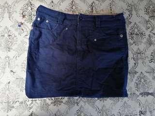 Blue Skirt buttoned