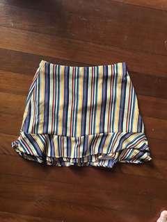 Stripe summer mini skirt