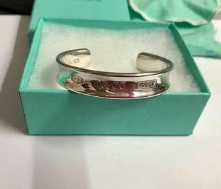 Tiffany 1837厚身925純銀手鐲(100%real&90%new)