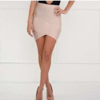 Nude bandage skirt