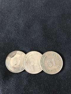 $1 lion coins