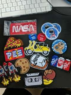 Assorted Iron On Shirt Patches