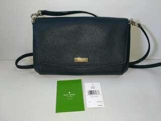 Authentic Kate Spade black real leather shoulder bag