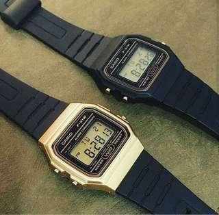 🚚 Casio Digital Watch Gold and Black Pair