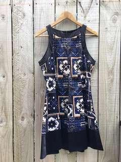 Navy Blue Printed Dress - New