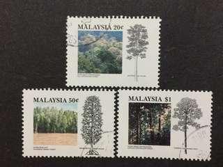 Malaysia Complete Set - 3v CTO NH Original Gum Stamps #4