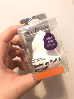 Olive Young Korea Makeup Sponge/Puff. Bought it at Seoul Olive Young. New