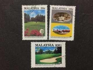 Malaysia Complete Set - 3v CTO NH Original Gum Stamps #7