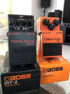 Boss Metal Zone MT-2 Distortion DS-1 Guitar Effect Pedal