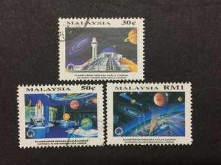 Malaysia Complete Set - 3v CTO NH Original Gum Stamps #9