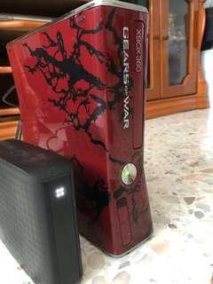 XBox 360 silm 320gb Gear of War edition + over 500gbs of games in Samsung 2TB USB 3.0 HDD