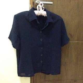 navy blue shirt / kemeja biru tua