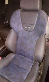 Recaro myvi seat with custom railling